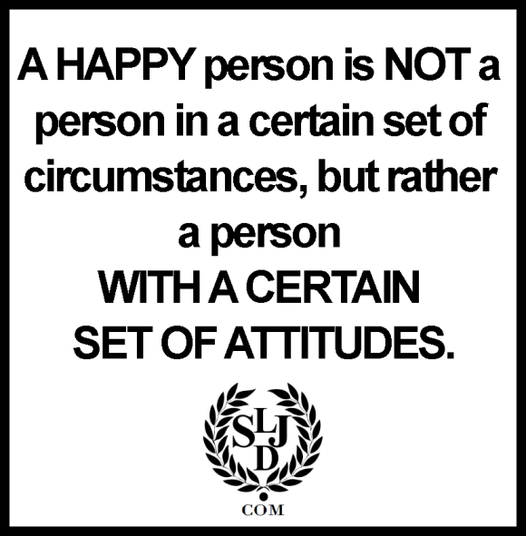 a happy person is